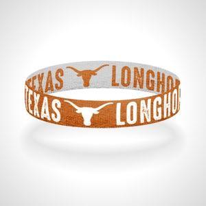 Reversible Texas Longhorns Bracelet Wristband